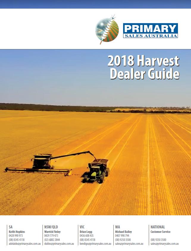 harvest dealer guide 2018 front page
